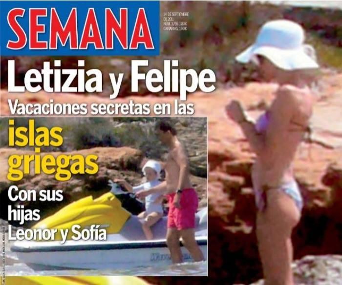 (Hace años) La Reina Letizia en bikini en las Islas Gri...